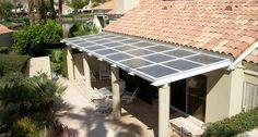 Bifacial solar panels awning by Sanyo