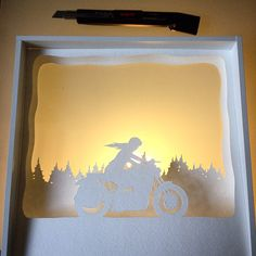 Instagram media ladscott - New commission in the works. #art #paperart #illustration #lightbox #motorcycle #caferacer #torchmotorcycles