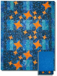 Shimmering Stars Quilt Pattern CTG-099 (advanced beginner, lap and throw, twin, home decor & houseware)