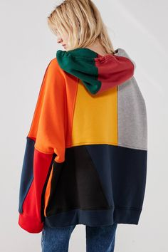 BDG Color Block Drawstring Hoodie | Urban Outfitters