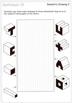 isometric drawing exercises for kids - Cerca con Google More