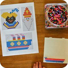 By MiekK: Sinterklaas Knutselen Diy For Kids, Crafts For Kids, Arts And Crafts, Disney Frozen, Bead Crafts, Diy Crafts, St Nicholas Day, Iron Beads, Melting Beads