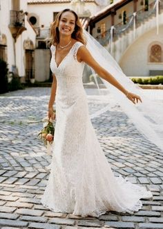 Robe de Mariée Neuve T36 Dentelle David's Bridal en Yvelines