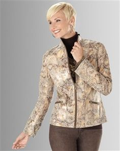 Chico's Queen of the Jungle Reversible Jacket #chicos