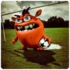 Madu the Monster, ready to kick some grass. Challenge Madu the Monster to be the champ in Space Sports' Goaly Moley! Champs, Grass, Kicks, Soccer, Hilarious, Challenges, Football, Park, Instagram Posts