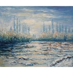 Monet - Floating Ice near Vetheuil Oil Painting for sale on overArts.com