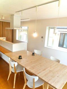 憧れのアイランドキッチンに変えて部屋ごと全部フルリフォーム|LIMIA ... 部屋の中心にキッチンのある生活