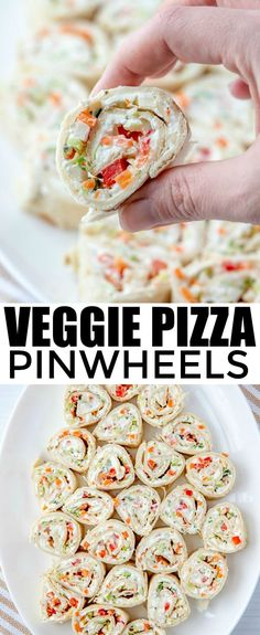 Veggie Pizza Pinwheels Want the perfect party food that everyone will go nuts for? These Veggie Pizza Pinwheels are full of vegetables and a ranch mixture that makes they irresistible. The post Veggie Pizza Pinwheels appeared first on Fingerfood Rezepte. Fingerfood Recipes, Fingerfood Party, Appetizer Recipes, Appetizer Party, Appetizer Dessert, Pinwheel Appetizers, Pinwheel Recipes, Holiday Appetizers, Desserts