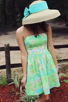 Match your hat with your dress for a winning Garden Party look!