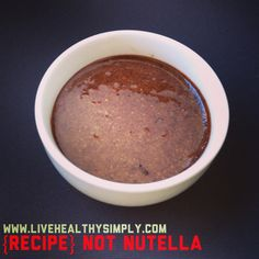 Sugar and dairy free Nutella   Ingredients  Coconut oil  Cacao  Natvia  Hazelnuts   For the full recipe go to livehealthysimply.com