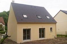 La #maison de Manon et Julien dans l'Essonne - modèle NOIR JASPEE de la gamme HOME CHRYSALIDE #House #MaisonsPierre #Maison