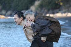 Chronicle of My Mother' review: inviting - SFGate Kosaku (Koji Yakusho) carries his mother (Kirin Kiki) on his back
