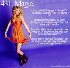 Magic is defenetly a Swiftie thing and.... I'm a Swiftie!!