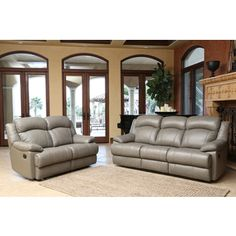 Shop for ABBYSON LIVING Clarence Top Grain Leather Reclining Sofa and Loveseat. Get free shipping at Overstock.com - Your Online Furniture Outlet Store! Get 5% in rewards with Club O!