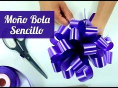 Tutorial Moño bola en cinta de papel - Manos Expresivas Manualidades - YouTube Fabric Flowers, Paper Flowers, Wedding Candy Boxes, Candle Craft, Gift Bows, Candy Bouquet, Tag Design, Ribbon Crafts, How To Make Bows