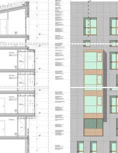 """CasaNova"" Social Housing,Section Detail"