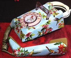 Unique Hand Crafted Hummingbirds & Orchids Vintage Trimphone