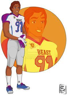 Disney the beast/adam in college
