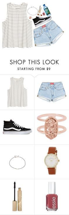 """""""I need dating advice! -read description // Marina"""" by the-preps ❤ liked on Polyvore featuring H&M, Vans, Kendra Scott, Cloverpost, Marc Jacobs, Stila and Essie"""