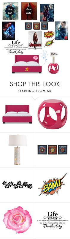 """Scarlet Witch & Quicksilver Room"" by joycesawires ❤ liked on Polyvore featuring interior, interiors, interior design, home, home decor, interior decorating, AveSix, Quiksilver, Olsen and My Little Pony"