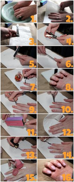 Ellee: At Home Manicure: Salon Nails on a Budget...