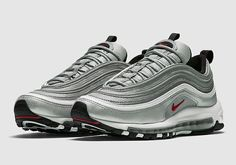 air max 97 og sneaker by Nike. A throwback to the late this limited-edition sneaker boasts a reflective metallic shine sure to catch attention. Air Max 97, Nike Air Max, Air Max Sneakers, Best Sneakers, Sneakers Nike, Basket Style, Basket Nike, Baskets, Fashion Boots