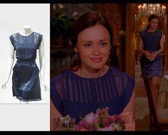 Erica Davies Blue Dress