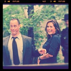 Stabler and Benson from one of the best shows ever - Law & Order: SVU :)