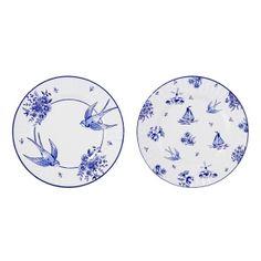 Blue & White Large Paper Plates thumb 3