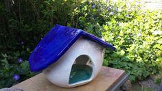 Vogelvoederhuis blauw-wit