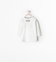 ZARA - NEW THIS WEEK - BOW-TIE PRINTED T-SHIRT