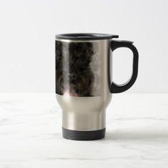The black dog with the pink tongue travel mug - christmas mugs santa merry xmas