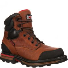 RKYK074 Rocky Men's Elements Dirt Safety Boots - Brown www.bootbay.com