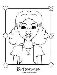 charmz girl brianna - African American Coloring Pages