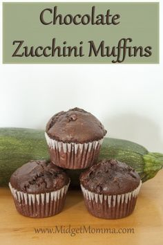 If you have a chocolate lover then these Chocolate Zucchini Muffins are PERFECT as a snack, in the lunch box or for breakfast! #zucchini #muffins #chocolate