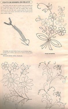 Bordado passo a passo: Risco de bordado livre Basic Embroidery Stitches, Learn Embroidery, Embroidery Art, Embroidery Patterns, Bordado Floral, Outline Designs, Brazilian Embroidery, Ribbon Design, Stitch Design