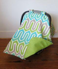 Aqua & Lime Geometric Car Seat Cover #zulily #zulilyfinds
