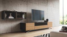 Simple modern tv stand designs : modern media console designs showcasing th Modern Tv Cabinet, Tv Cabinet Design, Modern Cabinets, Tv Cabinets, Console Modern, Living Room Floor Plans, Living Room Flooring, Tv Furniture, Furniture Design