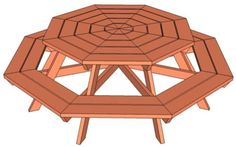 Build Yourself a Picnic Table with One of These 14 Free Plans: Free Plan for an Octagon Picnic Table by Ana White