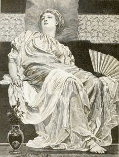"""Yellow Marguerites"" by Albert Joseph Moore, ARWS 1841-1893"