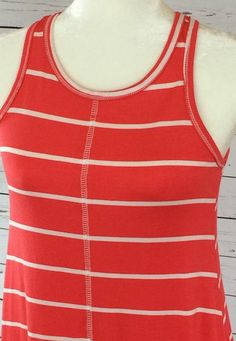 5304766343256f Coral Stripe Short Dress Gestreifte Kurze Kleider
