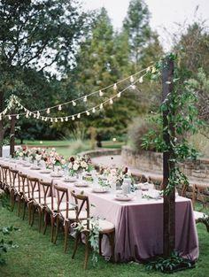 Diner bruiloft in eigen tuin