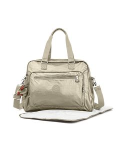 Toting around your baby's essentials just got easier, thanks to this durable nylon baby bag. Adorned in a shimmery metallic hue, Alanna is a stand out sty. Chic Diaper Bag, Baby Diaper Bags, Diaper Bag Backpack, Sacs Kipling, Designer Baby Bags, Baby Changing Bags, Changing Pad, Tote Handbags, Mariana