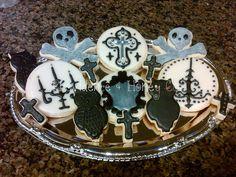 Gothic Halloween Cookies