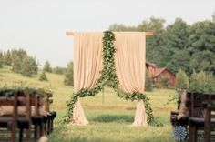 Свадебная арка в стиле эко-рустик