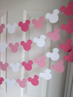 Minnie Mouse Inspired Party Decorations, Birthday Party, Disney Party, Girl Birthday party Decoration, Paper Garland on Etsy, $10.00