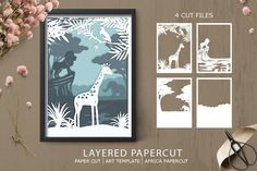 Paper Art, Paper Crafts, Sublimation Paper, Art Template, Kirigami, Paper Quilling, Box Design, Journal Cards, Shadow Box