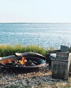 bonfires & water