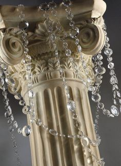30 foot strand Round Crystal Garland for Wedding by AStitchApart, $40.99