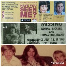 On July Norma Houghland and her two sons, Richard & Thomas went missing. Why God Why, Me App, Criminology, Missing Persons, Cold Case, Have You Seen, True Crime, Comebacks, Grid